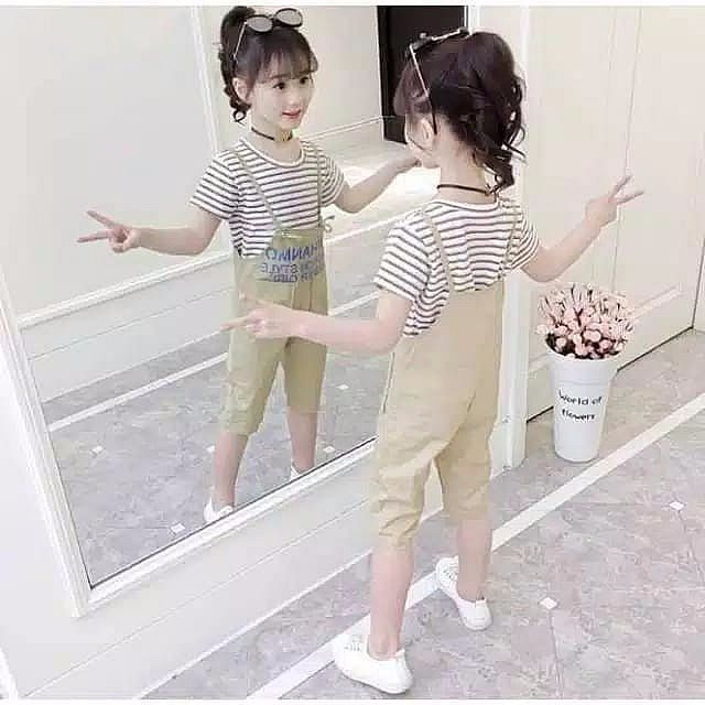 CST480, TOP STRIPE + OVERALL CREAM