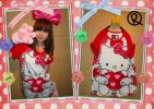 MOM134-40,HELLO KITTY RED TEE