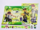 ACC273-018,PLASTIC MAP BEN 10 GREEN + STASIONERY SET