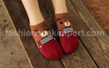 SOC120A-11 SOCK PANDA BROWN size : all size (4 - 9 thn)