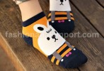 SOC122A-11 SOCK RABBIT ORANGE size : all size (4 - 9 thn)