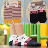 SOC124B-11 SOCK CAT BLUE STRIPPE size : all size (4 - 9 thn)