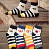 SOC138-013,SUPERHERO STRIPPE SOCK ALL SIZE (4-9 TH)